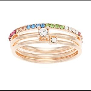 NWT! Beautiful rose gold 3 ring and jewel set
